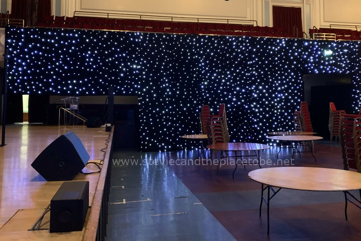 AML installed LED star cloths in the Caird Hall for a sports awards show. I was on hand to replace some of the LED chips that got damaged prior to the event starting.