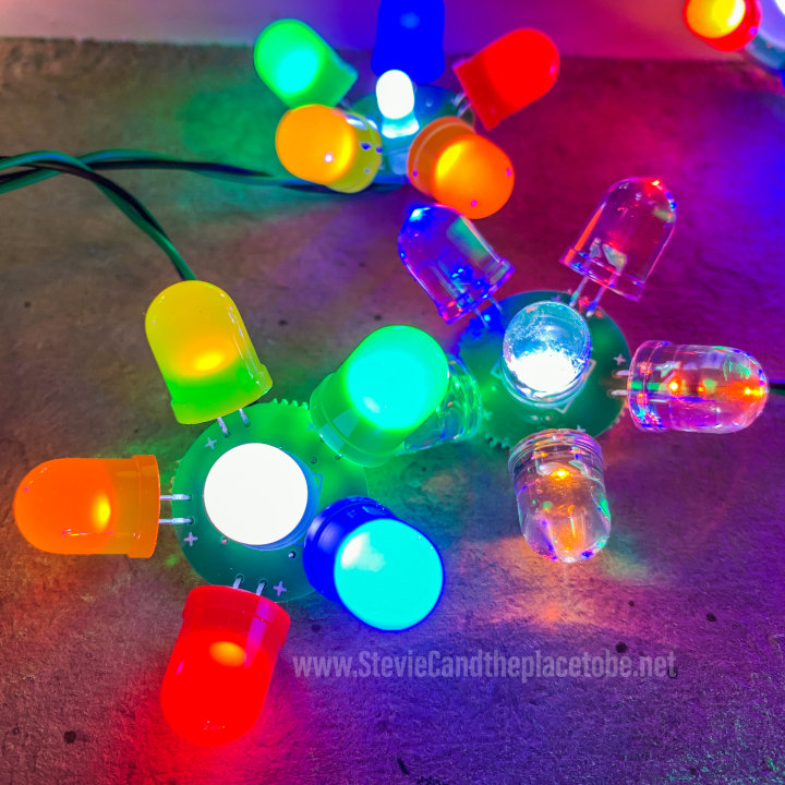 Celebrating Aspie Pride with some suitably-themed LED electro-flowers