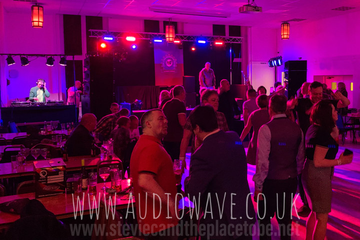Audiowave supplied PA, microphones, stage, lighting, DJ booth, DJ lights and backline for The March of the Mods hosted by The A92 Vespa Club in Chamber East Dundee