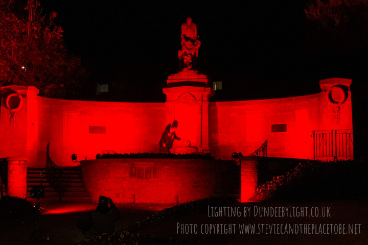 AudioWave Dundee provided lighting hire and design services for the Remembrance Day Ceremony in Carnoustie