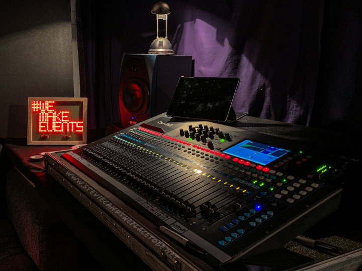 #WeMakeEvents - the custom LED PCB sign finding a home in Park5 Studios Dundee.