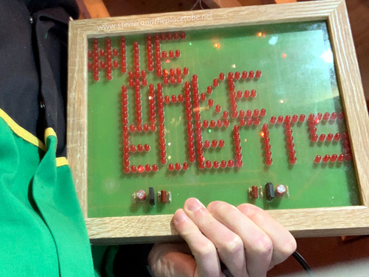 #WeMakeEvents - the custom LED PCB being modelled by Stevie C, along with the John Deere Onesie