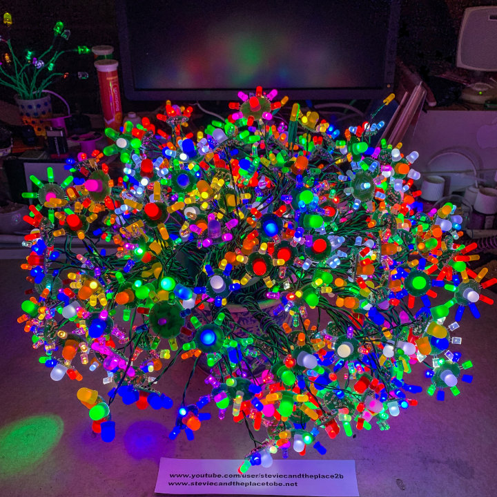 Growing an LED Bonsai Plant with Big Clive's and Stevie C's Bonsai Flower PCBs.