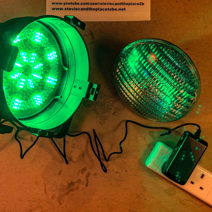 Custom LED PAR can. I designed a retrofit PCB for LEDs in Sprint Layout. It supports 3mm & 5mm LEDs and can be used with a DMX driver, RGB IR controller or a 12V DC PSU
