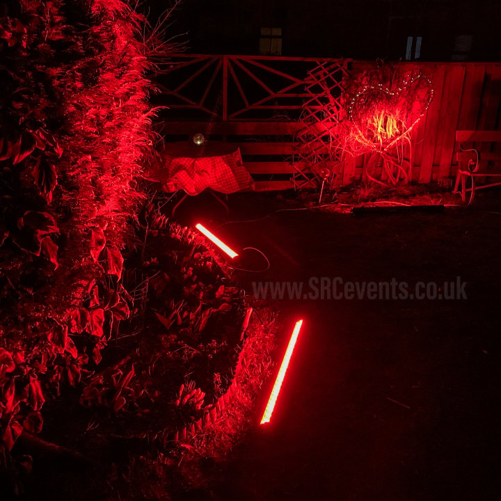 #WeMakeEvents - we lit up a garden in red to show solidarity with UK live events and theatre workers. We have been out of work for a year and have received little to no support. We brought £100Bn into the economy before lockdown, but the government would rather spend money on PPE and software that doesn't exist.