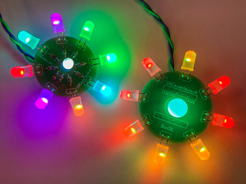 5V LED Bonsai flower PCBs - perfect for USB powered projects