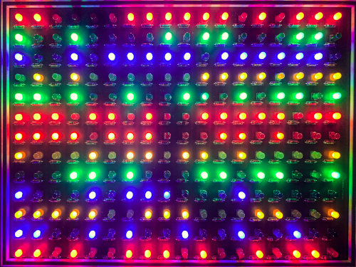 I downloaded, ordered and assembled Big Clives Gallium PCBs with various different colours and combinations of LED - this one is selection of different flashing colours