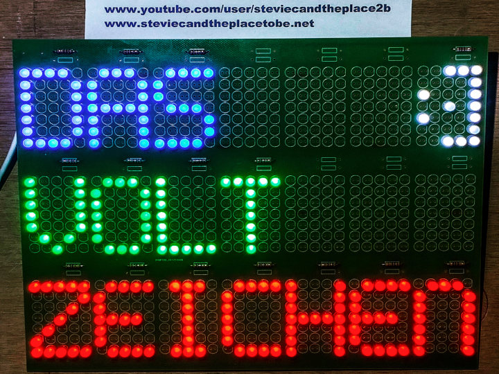 Das VoltZeichen: a PCB that allows one to spell out any message with 5mm LEDs - powered by 5V USB