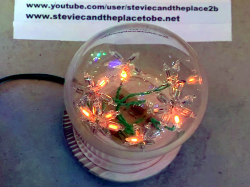 Neon Nixie flower dome cloche bell jar thingy
