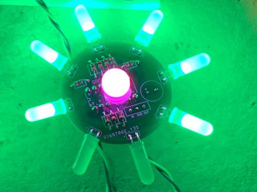 PIC-a-Flower: a custom LED Bonsai Flower PCB - sequenced by a PICAXE 14M2
