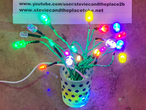 An LED tree that fits in a shot glass or tea-light holder and runs from USB power