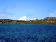 View of Iona Abbey from the ferry